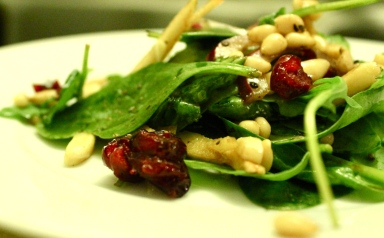 trader ro's cranberry nuts and balsamic salad